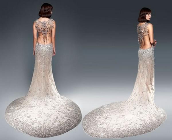 Фото платьев из камней сваровски