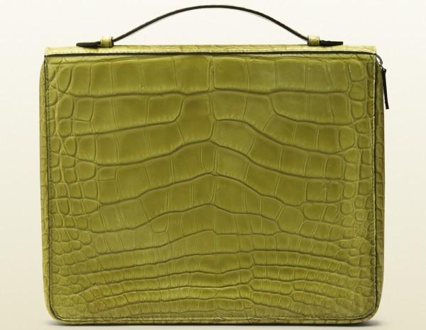 Gucci green crocodile case