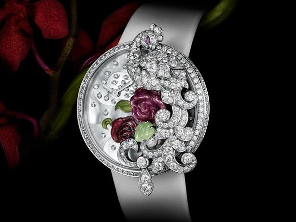 Cartier Peacock motif Watch