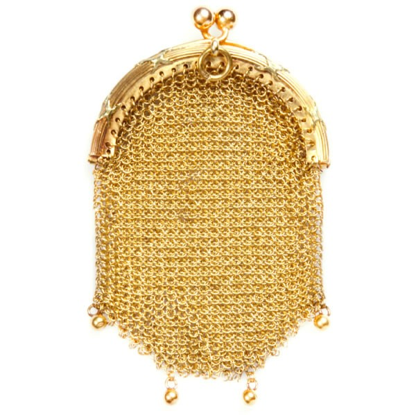 Antique Victorian Solid Gold Change Purse Bag