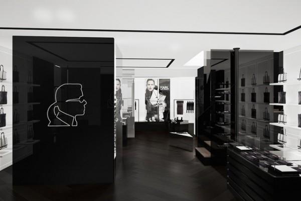 Karl  Lagerfeld butic in Paris-600x400