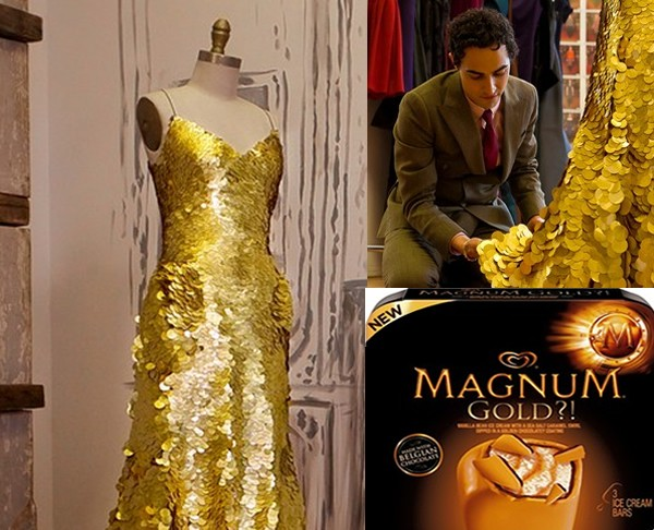 Magnum gold ice cream dress