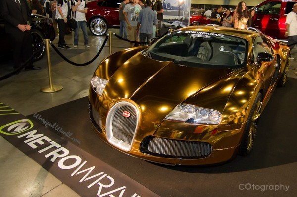 Gold Wrapped Bugatti