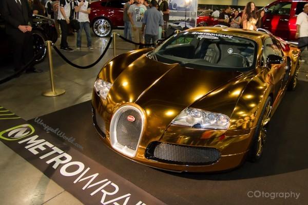 Gold Wrapped Bugatti