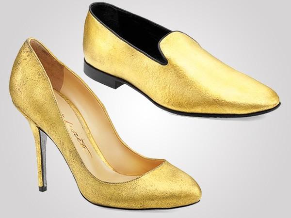 Alberto Moretti Gold Shoes