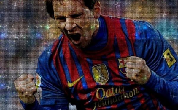 Lionel Messi Swarovski Portrait