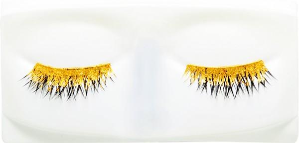 gold eyelashes