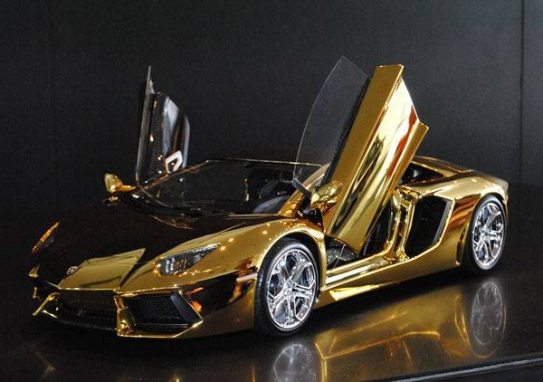 Gold  Lamborghini Aventador