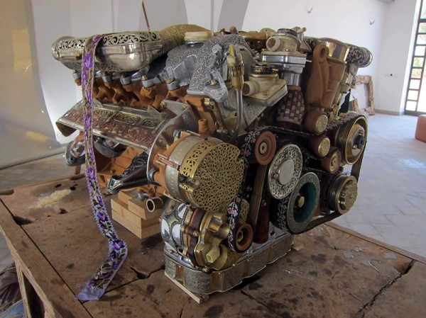 Mercedes Engine Art