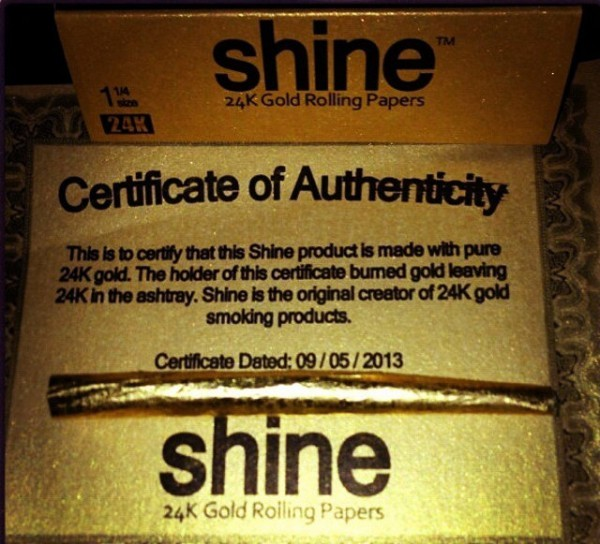 Shine 24K gold edible rolling papers