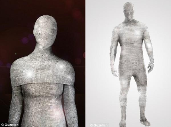 Diamond covered morphsuit