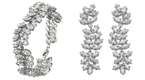 Martine Wester Ivy Inspired Crystal BraceletEarrings
