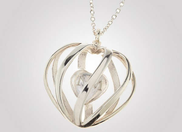 Monogrammed Heart Pendant Necklace1