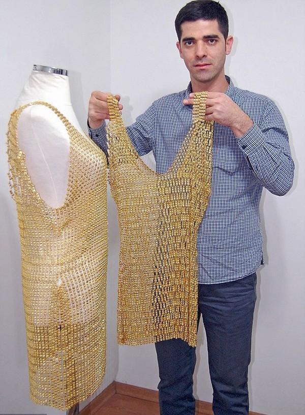 Ahmet Atakan Gold Dress