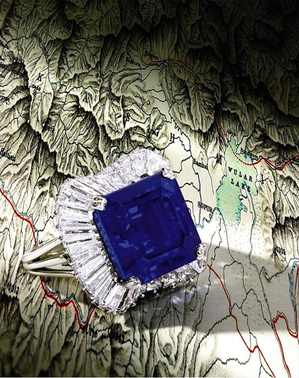 Kashmir saphir ring