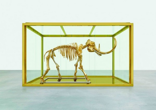 Golden Mammoth Skeleton