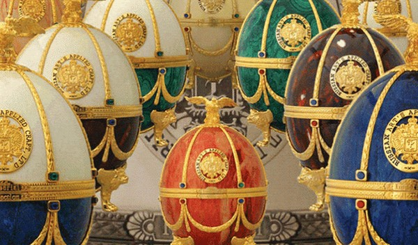 Imperial Collection Vodka Faberge-Eggs