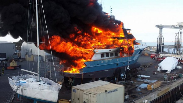 Yacht Fire Polar Bear
