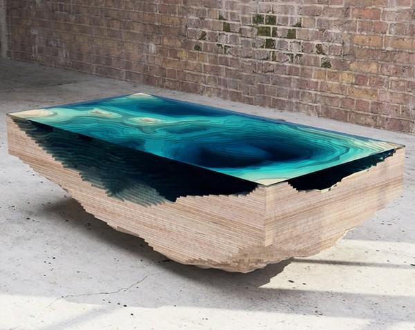 дизайнерский журнальный стол The Abyss от кристофера даффи стоит 10000