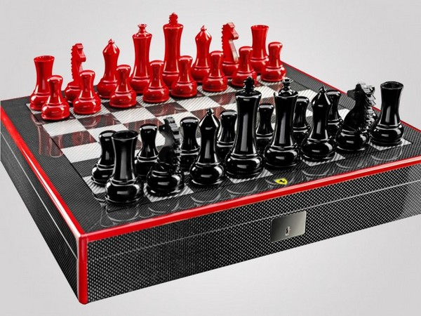 Ferrari carbon chess set