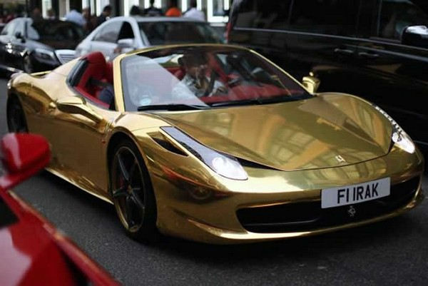 ferrari gold plated