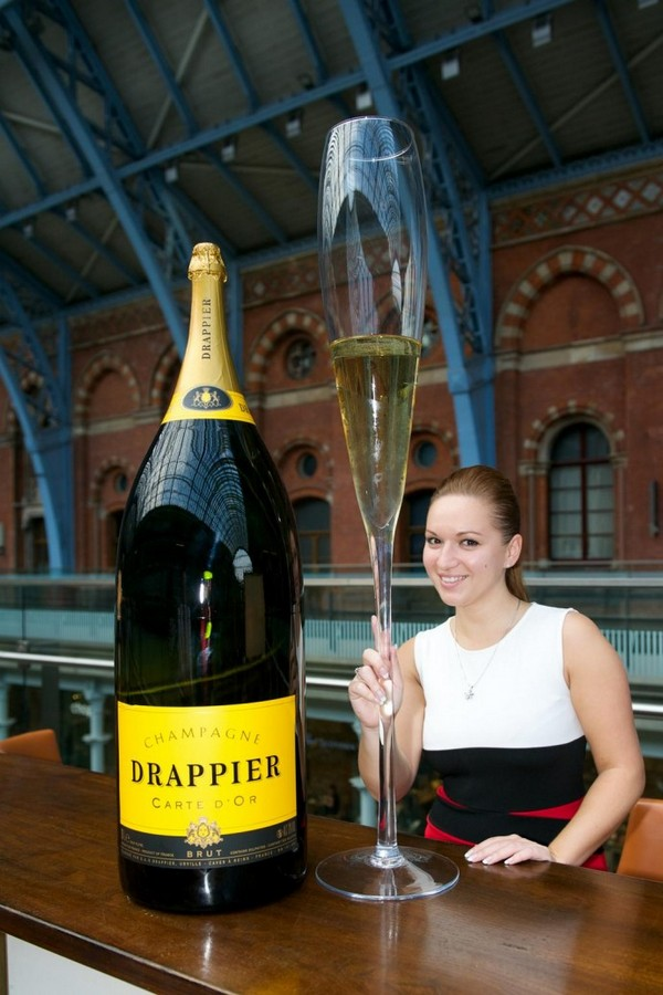 Largest champagne bottle London
