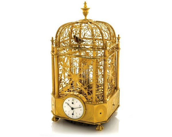 Singing Bird Cage Clock