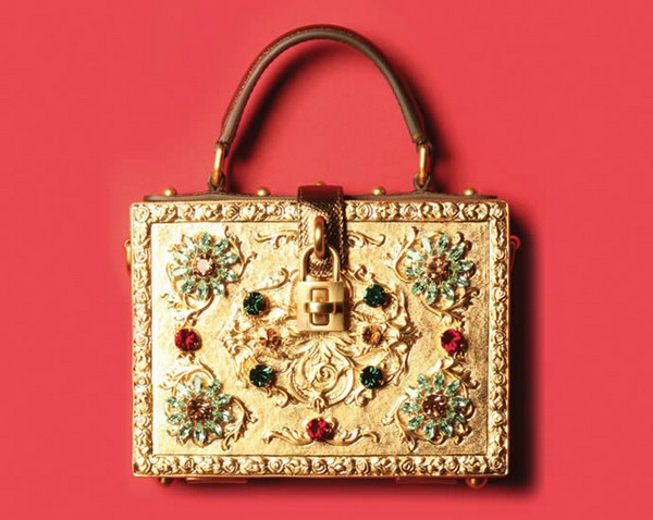Dolce Gabbana gold bag