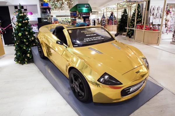 Gold Atom Car