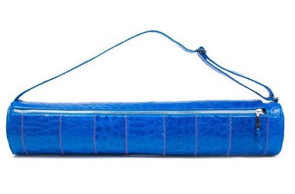 Jill Haber Cobalt Crocodile Skin Yoga Mat Case