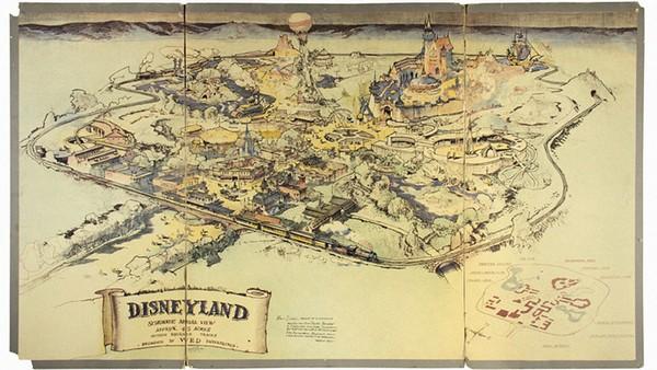Первая карта «Диснейленда» была продана с аукциона за 708.000$